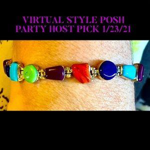 HP💕Vintage Navajo Multi-Gemstone .925 Bracelet
